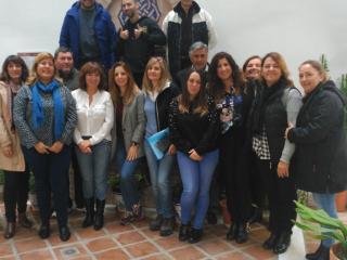 La concejal de Empresa y Empleo visita a los participantes de Vives Emplea