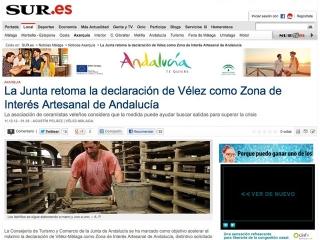 Concedida la declaración de Vélez-Málaga como Zona de Interés Artesanal de Andalucía