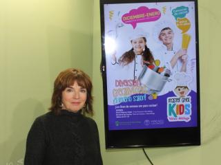 Mª José Roberto, concejala de Empresa y Empleo, invita a los niños y niñas a mostrar sus dotes culinarias