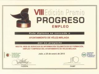 FUDEPA y FAMP reconocen la Iniciativa WeetSI presentada por el Ayuntamiento de Vélez-Málaga a la VIII Edición del Premio Progreso