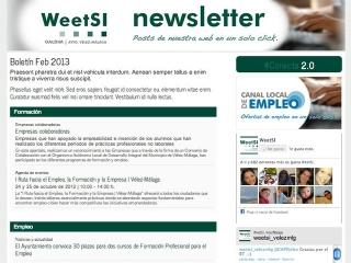 Ya puedes consultar el número de marzo 2013 de WeetSI | Newsletter, boletín para estar al día de todo lo relativo a Empleo, Formación y Empresa en Vélez-Málaga