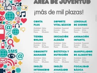 El Ayuntamiento oferta 1.045 plazas para jóvenes del municipio a través de su programa de formación que se divide en 12 talleres