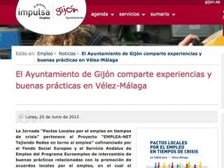 El Ayuntamiento de Gijón comparte experiencias y buenas prácticas en Vélez-Málaga